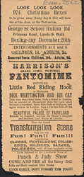 Poster for a Christmas pantomime